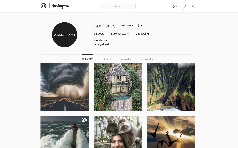 @wondarlost Tier 2 Instagram account management