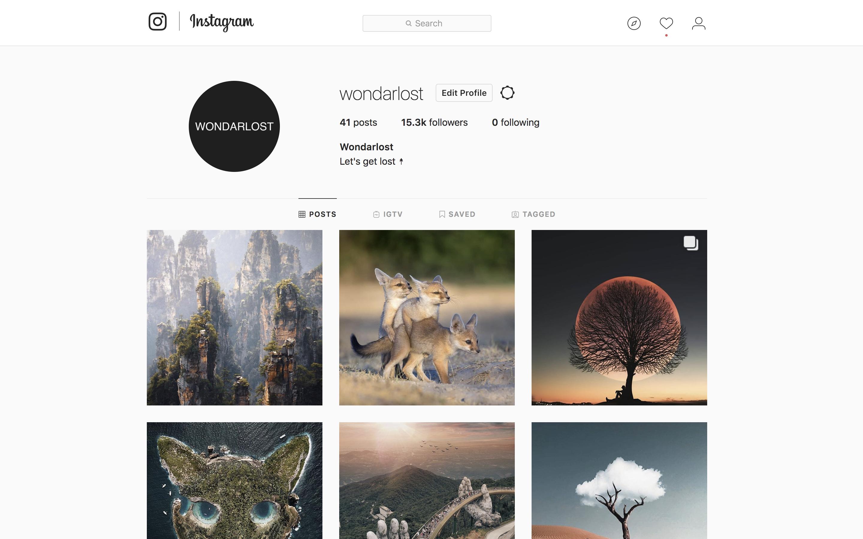 @wondarlost Tier 3 Instagram account management